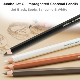 Jerry's Jumbo Jet Oil Impregnated Charcoal Pencils