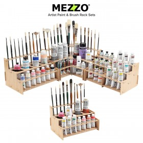 Mezzo® Artist Paint & Brush Racks