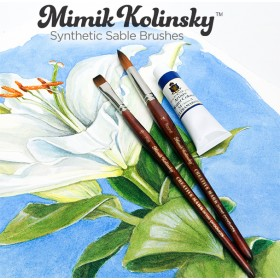 Mimik Kolinsky Synthetic Sable Short Handle Brushes and Sets