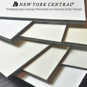 New York Central Professional Canvas Art Panels on AlumaComp