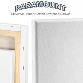 "Paramount 3/4"" Professional Cotton Stretched Canvas Boxes of 6"