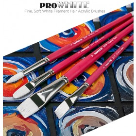 Creative Mark Pro White Soft White Filament Hair Acrylic Brushes & Sets