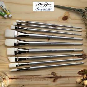 Silver Brush Silverwhite® Synthetic Long Handled Brushes