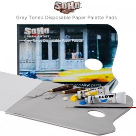 SoHo Grey Toned Disposable Paper Palette Pads