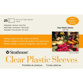 Strathmore Clear Plastic Sleeves - Greeting Cards