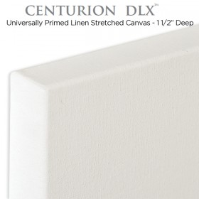 Centurion DLX Universal Acrylic Primed Linen Stretched Canvas 1-1/2""