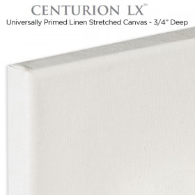 Centurion LX Universal Acrylic Primed Linen Stretched Canvas 3/4""