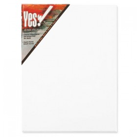 "Yes! All Media Cotton Stretched Canvas 1-1/2"" Deep"