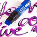 Each acrylic marker features high coverage