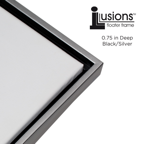 Illusions Canvas Finished Art Floater Frame, 3/4\