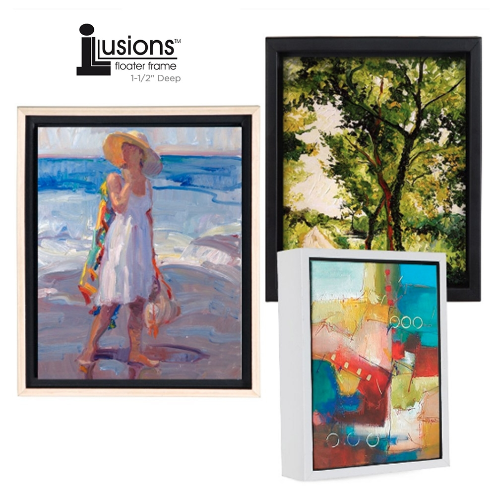Illusions Floater Canvas Frames 1-1/2 Deep