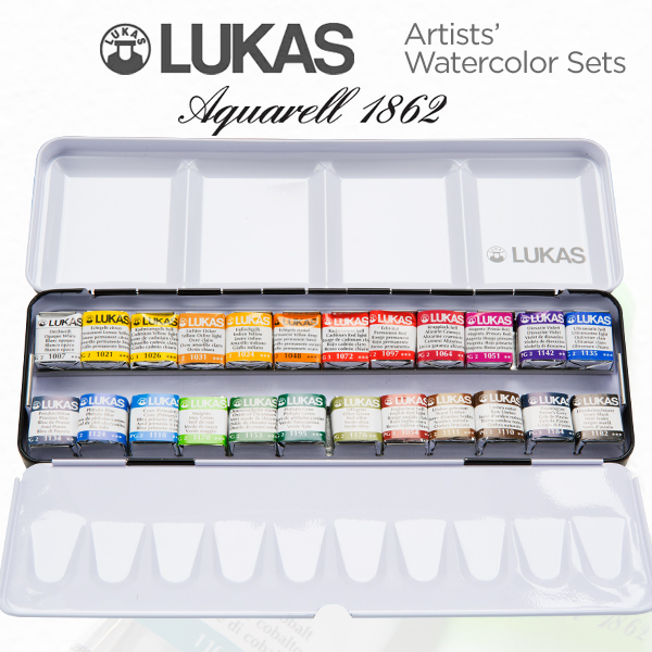 LUKAS Aquarell 1862 Artists' Watercolor Set of 24