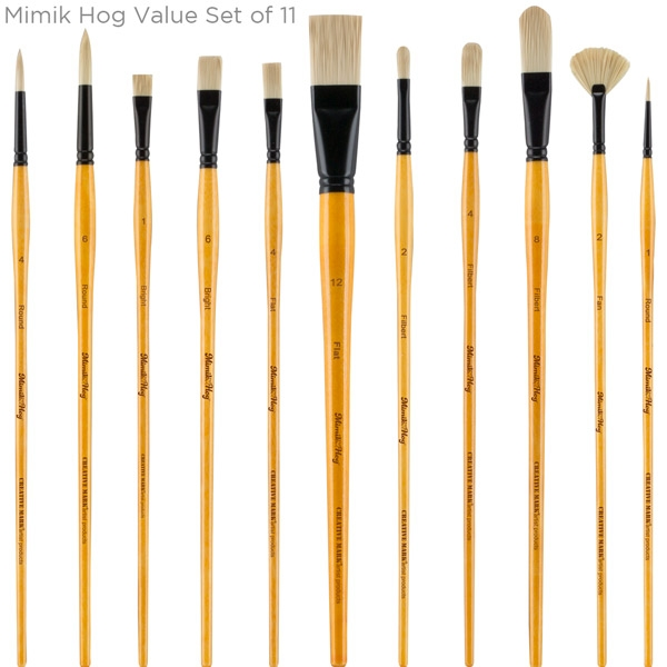 Mimik Hog Brush Set of 11
