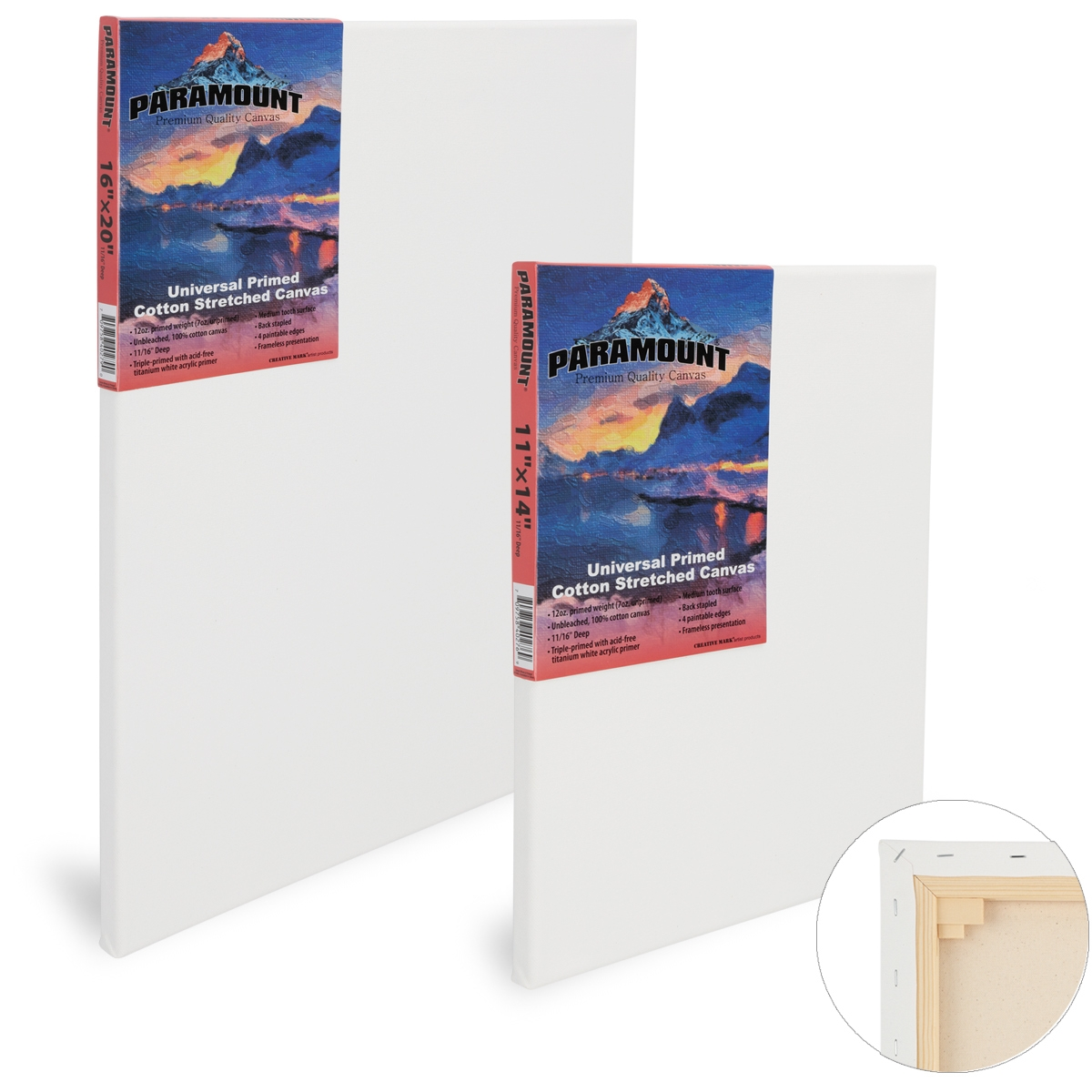 Paramount 11/16 Professional Cotton Stretched Canvas