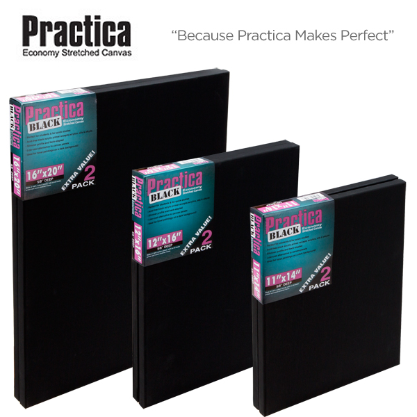 Bulk savings Practica Economy Black Stretched Canvas