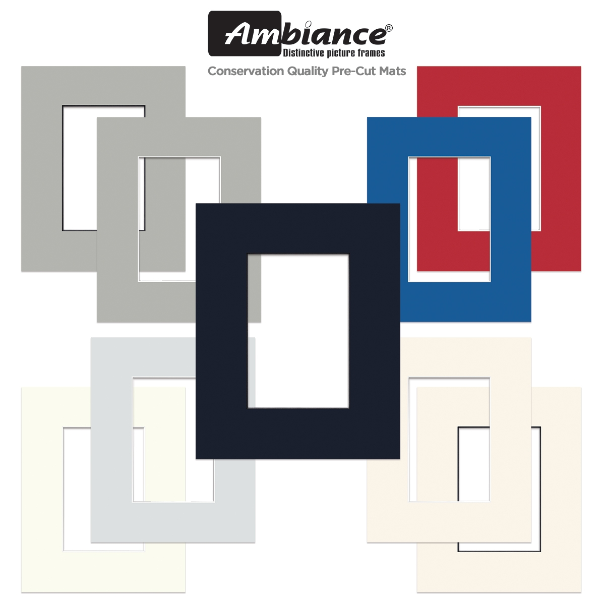 Ambiance Conservation Quality Pre-Cut Mat Packs