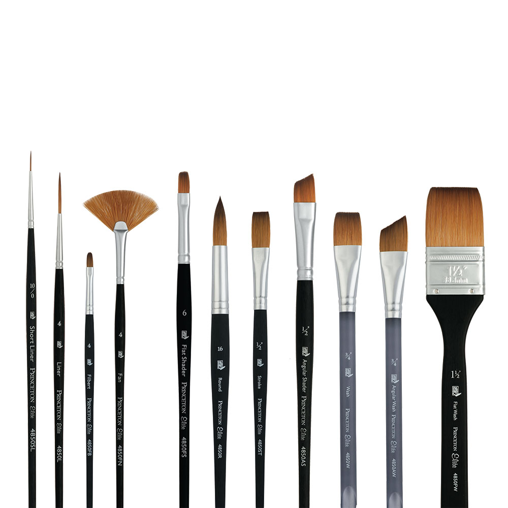 Princeton Elite Series 4850 Synthetic Kolinsky Sable Brushes