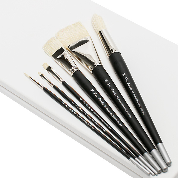 Pro Stroke Premium White Bristle Brushes By Creative Mark