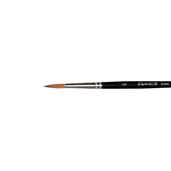 Paint Brush 1 x Small Drybrush #6 Pure Kolinsky Sable Hair Aluminium Handle