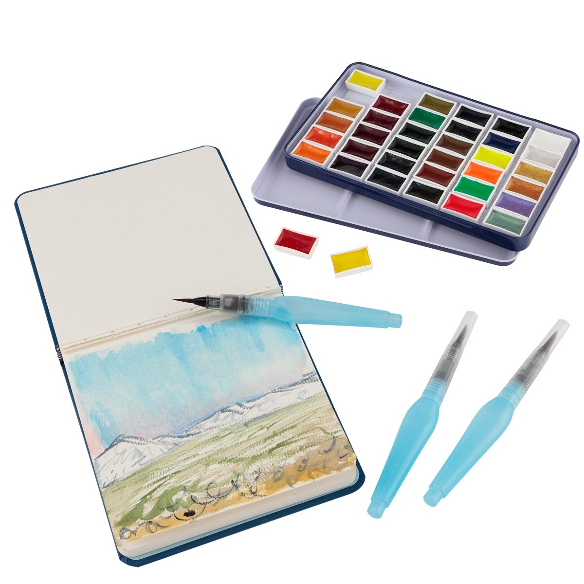 SoHo E-Z Lift Artist Watercolors Pan Set