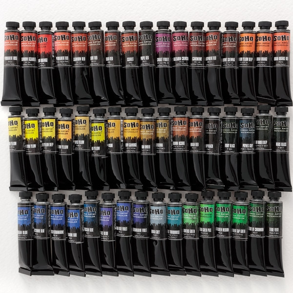 SoHo Watercolor Paint Set of 50