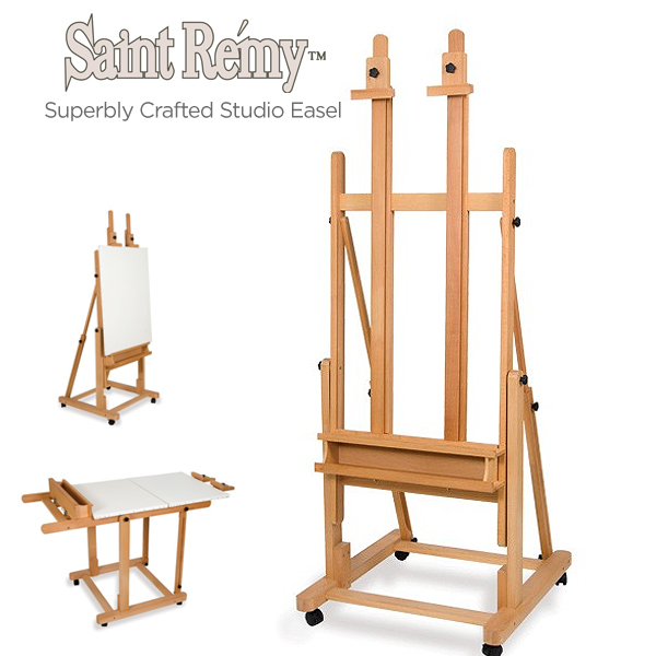 Saint Remy Multi-Angle Wood Studio Easel