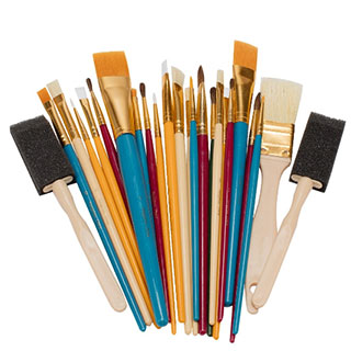 Oodles Of Brushes Kid's Art Brush Set Of 25