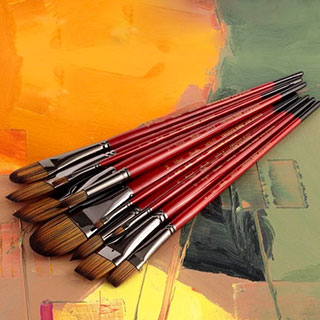 Staccato Long-Handle Synthetic Brushes & Sets