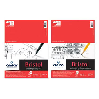 Canson Foundation Series Heavyweight Bristol Paper Pads