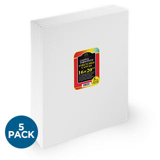"Creative Inspirations 5/8"" Deep Stretched Canvas 5-Pack"