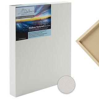 "DaVinci Pro Medium Textured Gesso Panels 7/8"" & 1 5/8"" cradle depths"