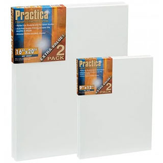 Practica Economy Stretched Canvas 2 Packs