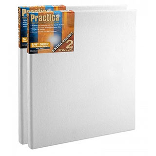 """Practica Cotton Stretched Canvas 5/8"""" Deep - 2 Pack"""