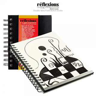 Reflexions Double Wire Spiral Bound Field Sketch Books