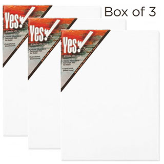 "Yes All Media Cotton Stretched Canvas 1-1/2"" Deep"