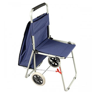 ArtComber Portable Rolling Chair Blue