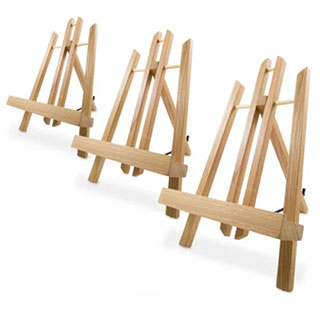 Artistry Bamboo Display Easel Box of 10 Small