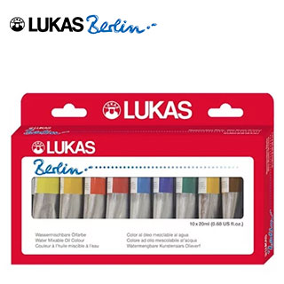 LUKAS Berlin Water Mixable Oil Color Selection Set of 10