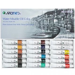 Marie's Water Soluble Oil Colors 18 Set 12 ML