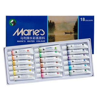 Maries Extra Fine Watercolor Set of 18 12ml Tubes