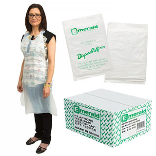 Wipe-Tex Disposable Plastic Aprons