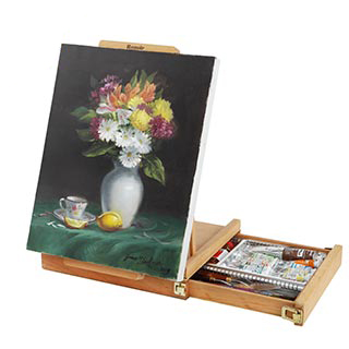 Renoir Table Easel & Sketchbox w/ Metal Lined Drawer