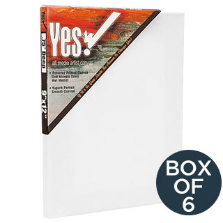 Yes! All Media Cotton Stretched Canvas 3/4 Deep