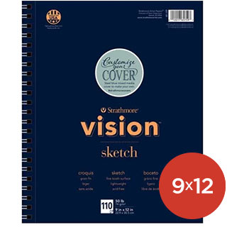 Strathmore Vision Sketch Pads 9x12