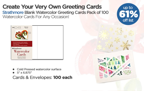 Shop Strathmore Blank Watercolor Greeting Cards