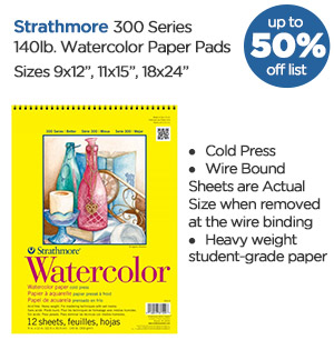 Shop Strathmore 300 Series Watercolor Paper Pads