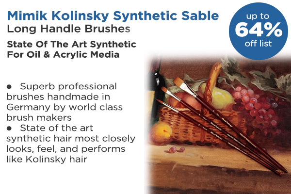 Shop Mimik Kolinsky Synthetic Sable Long Handle Brushes & Sets
