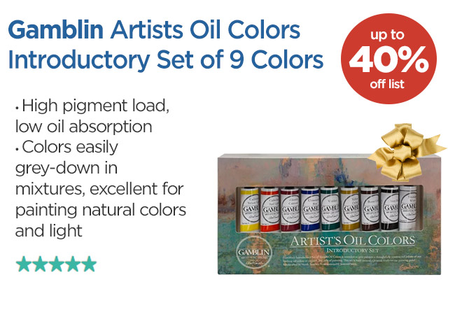 Gamblin Artists Oil Colors Introductory Set of 9 Colors