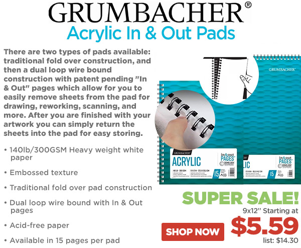 Grumbacher Acrylic and Out Pads