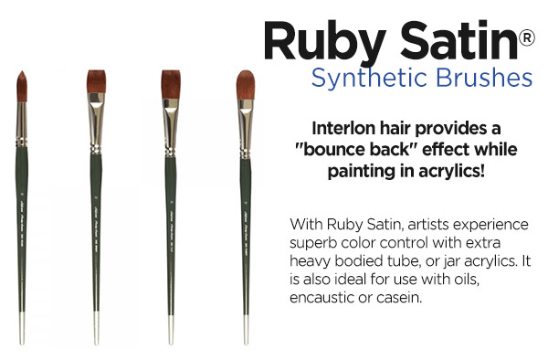 Shop Silver Brush Ruby Satin